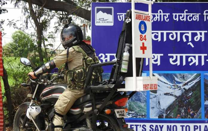 security arrangement for the Amarnath yatra