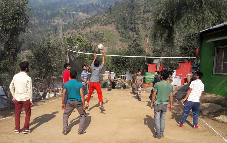 Army organised Volleyball and a Cricket Match