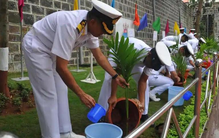 World Environment Day : Indian Navy 's Green initiatives for safe ecology -  Rakshak News